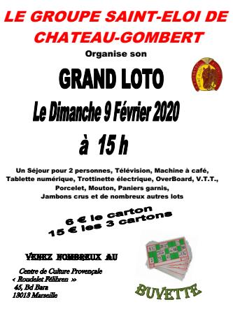 Loto 2020 Saint Eloi Château Gombert